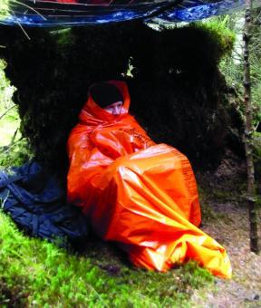 BCB Printed Survival Bag Orange - Notschlafsack