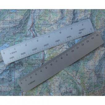 Kartenmassstab Aluminium